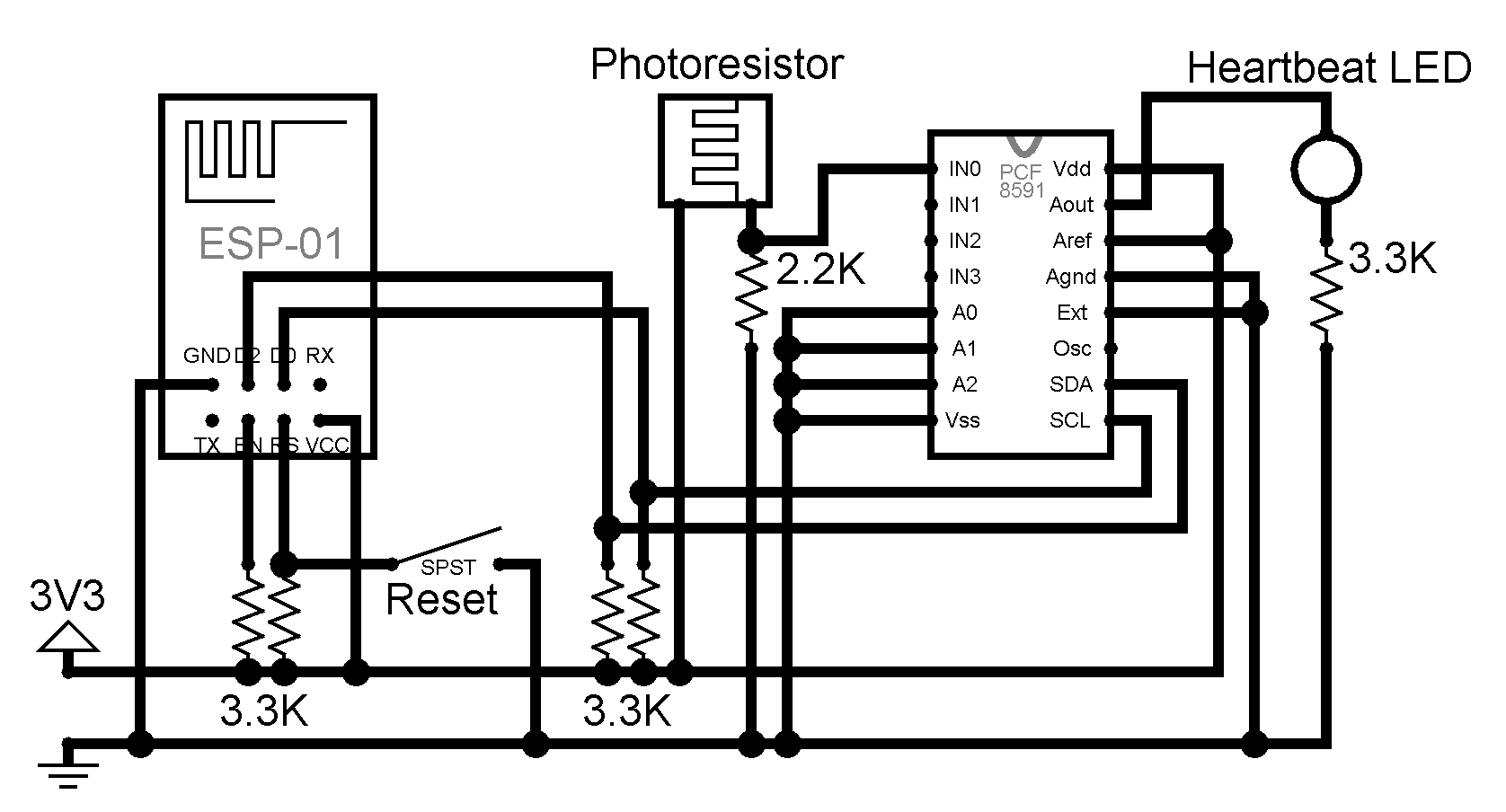 Circuit diagram for the daylight acquisition node
